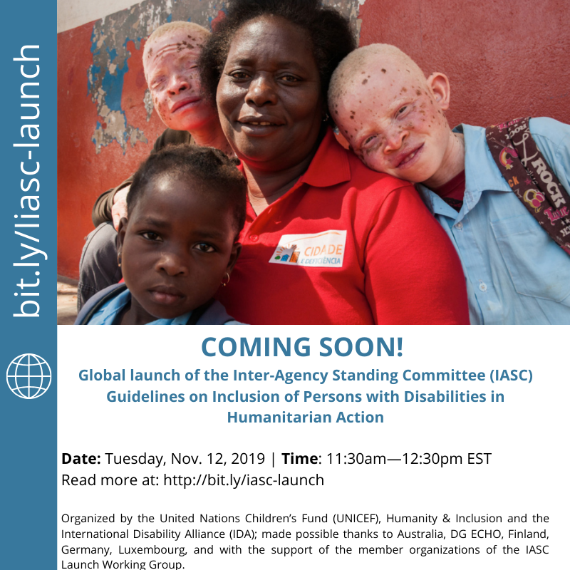Global Launch: IASC Guidelines, Humanitarian Action