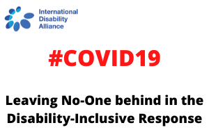 COVID 19 and the disability movement