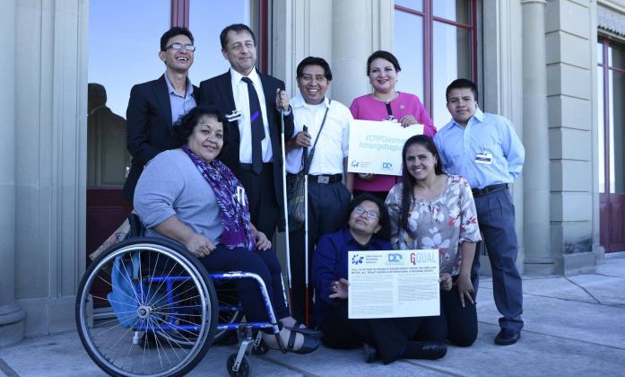 Guatemalan DPO representatives in Geneva