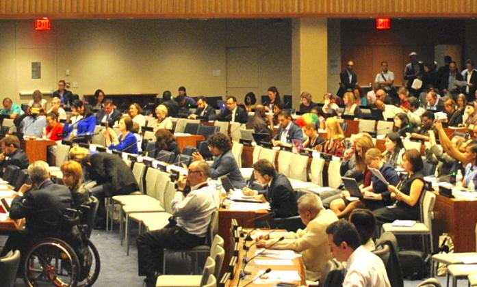 Conference Room at the United Nations in New York during a session of the Conference of States Parties to the CRPD