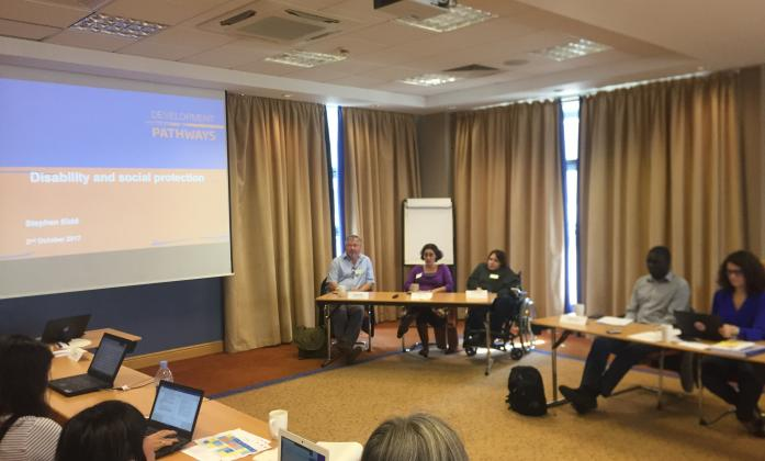 On day 5, the BRIDGE trainees were joined by Stephen Kidd, Development Pathways; Hannah Kuper, International Centre for Evidence in Disability (LSHTM); and Ola Abu Alghaib, Leonard Cheshire