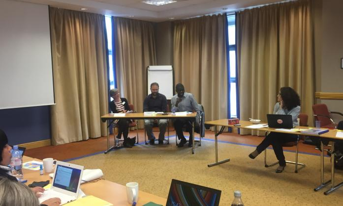On day 5, the BRIDGE trainees were joined by Penny Innes DFID, Dominic Haslam, Sightsavers and Asayya Imaya of Big Lottery Fund