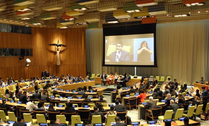 Josè Maria Viera present at the PGA high level debate on Human Rights interactive dialgoue