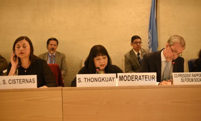 Ms. Saowalak Thongkuay, Member of the Steering Committee of ASEAN Disability Forum