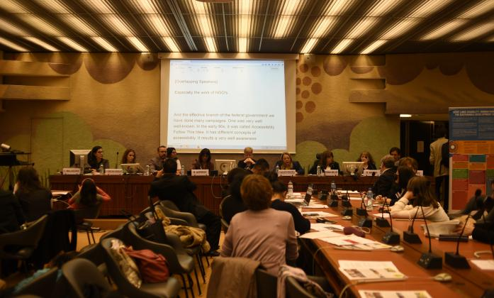 """""""Media and persons with disabilities"""", Side Event, Social Forum 2016"""