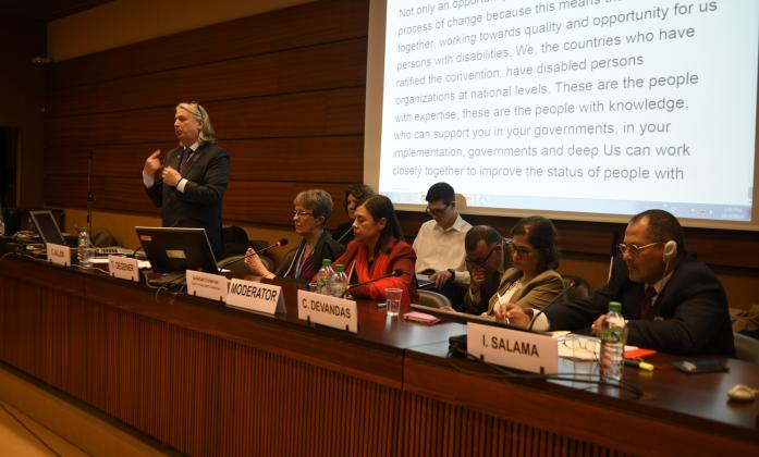 "Speakers at ""CRPD: A Global Call for Universal Ratification"" Side Event, Social Forum 2016"
