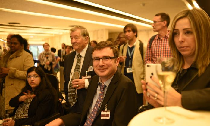 Vladimir Cuk and Social Forum reception guests