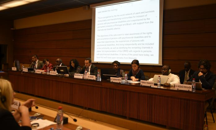 """""""Persons with psychosocial disabilities and their rights under the CRPD"""", HRC's Social Forum Side Event"""