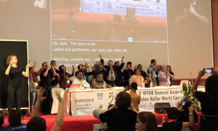 Opening Session of the 11th Helen Keller World Conference