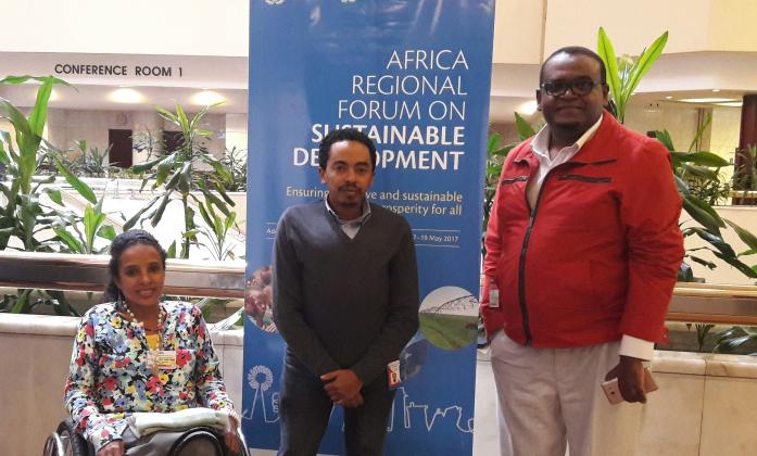 Delegates from the Stakeholder Group of Persons with Disabilities at the African Forum meeting.