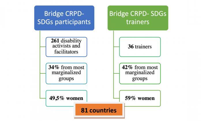 Illustration of Bridge CRPD SDG Participants and Trainers