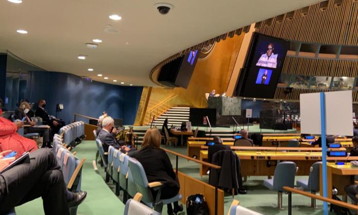 Photo of CoSP 13 opening at UNGA