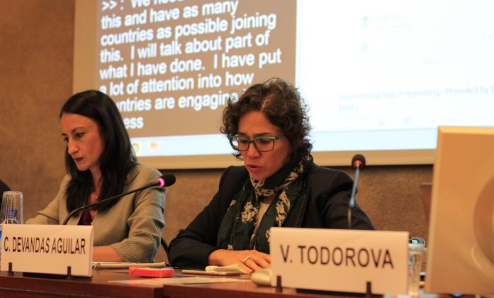 Catalina Devandas during Side Event on Inclusive education HRC36