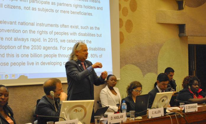 Colin Allen at Human Rights and SDG side event, Social Forum 2016