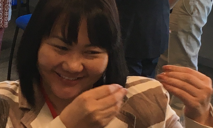Dulamusuren Jigjid during the BRIDGE CRPD SDG ToT in Geneva, March 2018