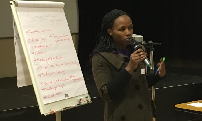 Elizabeth Ombati at the BRIDGE Training of Trainers, Geneva, February 2018