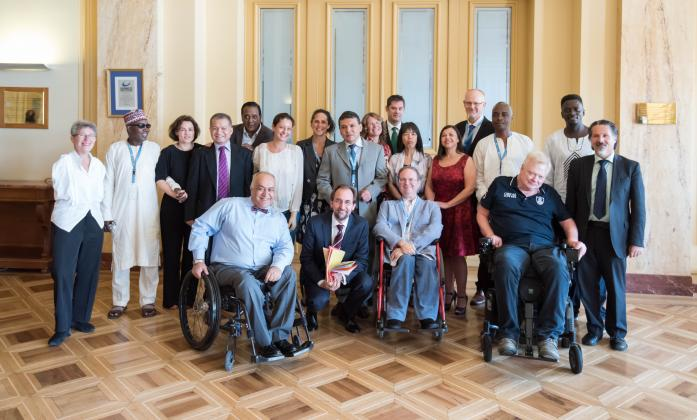 CRPD Committee members and High Commissioner Zeid Ra'ad Al Hussein