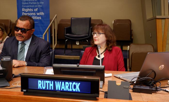 Ruth Warick speaking at CSFCRPD 2019
