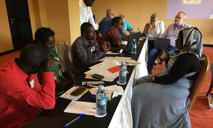 Participants at WFDB workshop Uganda