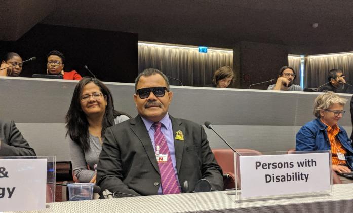 Setareki Makanawi at Sendai Global Platform meeting in Geneva 2019