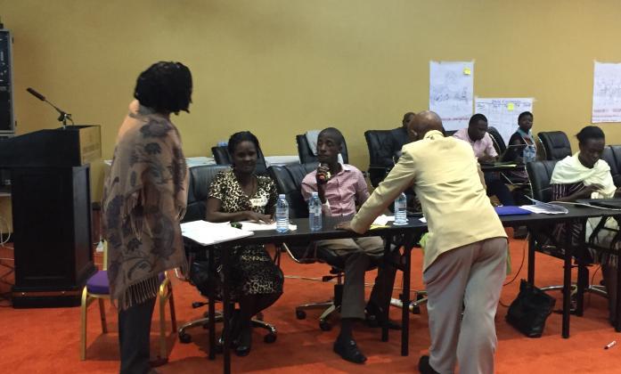 Participants intervening
