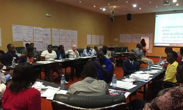 Participants at last day of Bridge mod 2 Uganda