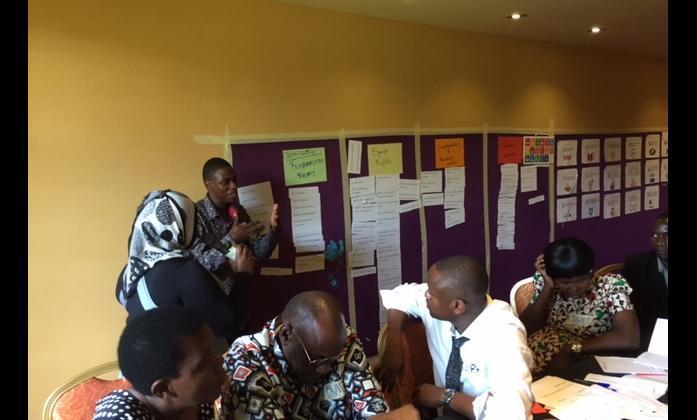 Mark Kato co-facilitating the session