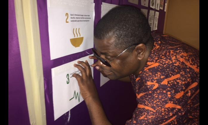Ezekiel Kumwenda participating at the WFDB workshop