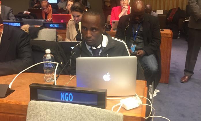 Mark Mapmeba responding at the CSocD 55