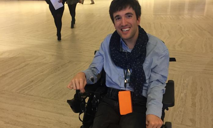 Matthieu Chatelin, Cerebral Palsy European Communities' Association and youth leader of the  European Disability Forum