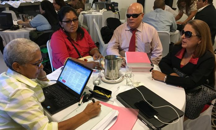 Delegates at a training in Panama