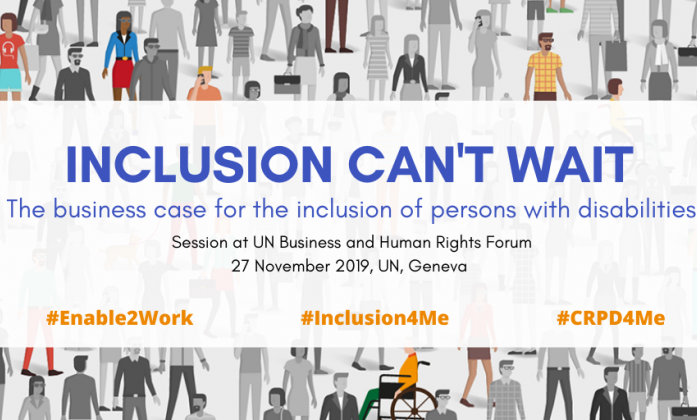 Inclusion can't wait banner
