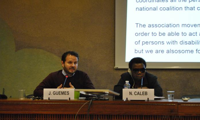 Javeir Guemes and Nellie Caleb during Technical Cooperation side event, Social Forum 2016