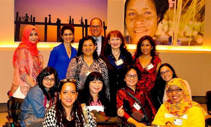 Participants at UN Women's day at UNESCAP, 2016