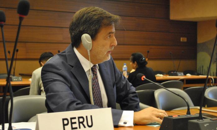 H. E. Ambassador Luis Enrique Chávez Basagoitia, Permanente Representative of Peru to the UN in Geneva