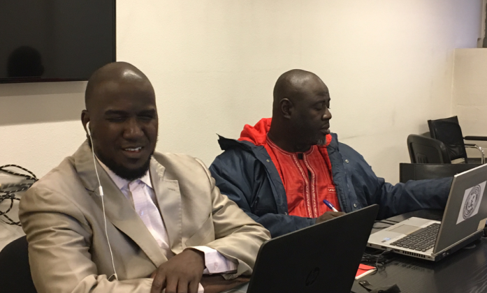 Leaders from the Niger Federation of DPOs participated in Geneva.