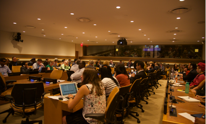 The conference room during the side-event organised by the SGPwD