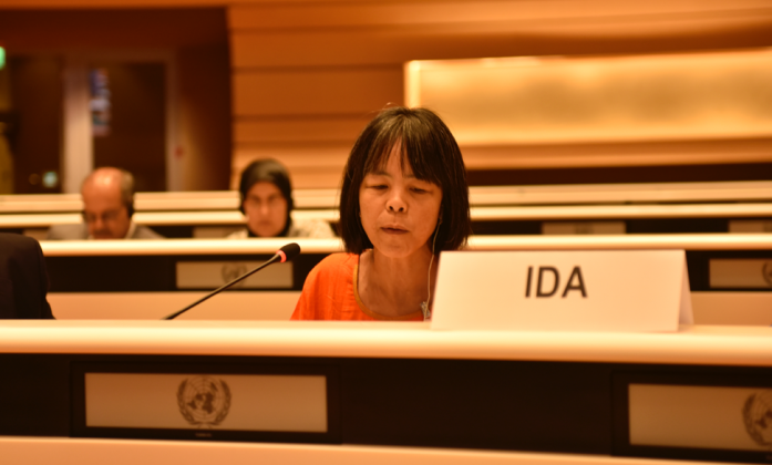 Ms. Silvia Quan during the opening of the 18th Session of the CRPD Committee