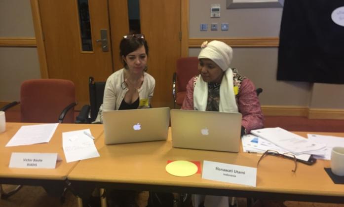 Megan Smith and Risnawati Utami are BRIDGE Module 2 trainees