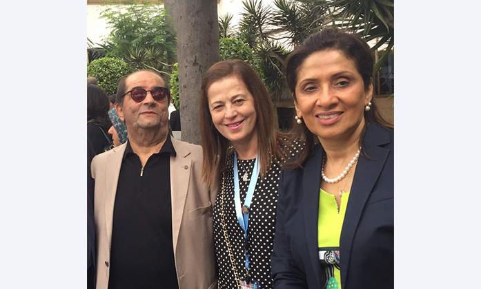 Ibrahim Abdallah, Jahda Abou Khalil and the General Secretary of ESCWA Dr. khawla Matar