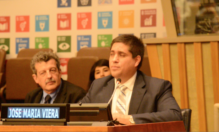 Jose Viera at the official HLPF panel on Tuesday 11 July 2017