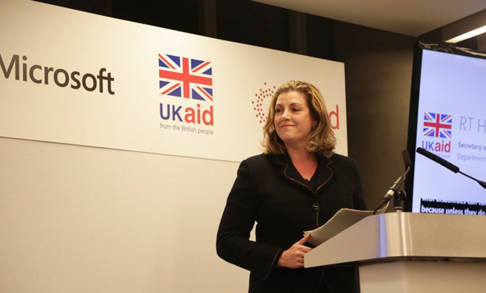 Penny Mordaunt during the event on 30 November where she announced DFIDs plans to host a disability Summit.