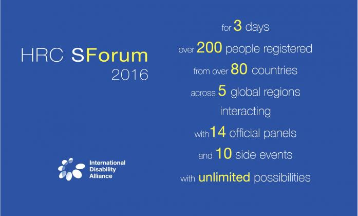 HRC SForum 2016 - for 3 days over 200 people registered from over 80 countries across 5 global regions interacting with14 official panels and 10 side events with unlimited possibilities
