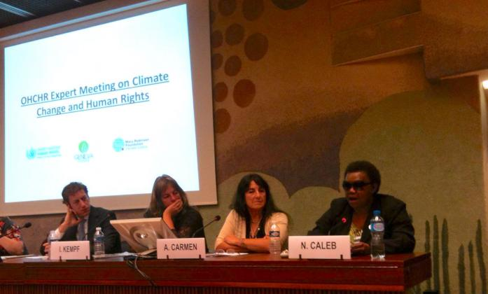 Nellie Caleb (Co-Chair, Pacific Disability Forum) OHCHR Expert meeting on climate change and human rights