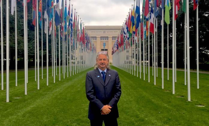 Colin Allen at the UN, Palais des Nations in Geneva