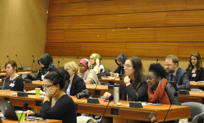 Participants during the participation of women with disabilities side event, Social Forum 2016
