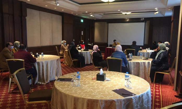 Workshop in Egypt, Cairo. Participants in the meeting room
