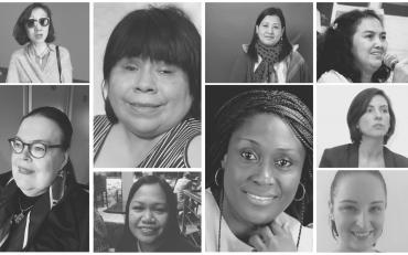 The photo of panelists of the CSW64 Virtual Event on Women with Disabilities and COVID-19.