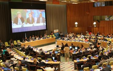 The Trusteeship Council Chamber during HLPF 2016.