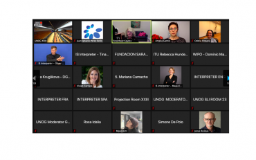 Screenshot of the closing session